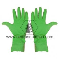 Guante multiuso nitrilo verde 4G