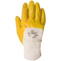 Guantes algodon + nitrilo complet.amarillo JU 2001
