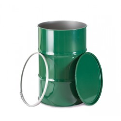 Bidón metálico de 50 litros con cierre ballesta