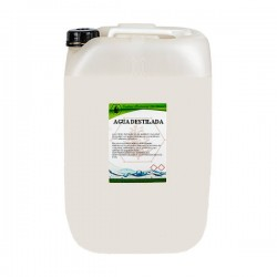 Agua destilada 25 lts