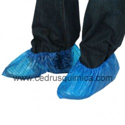 Patucos-cubrezapatos de polietileno azul (paq.100uni)